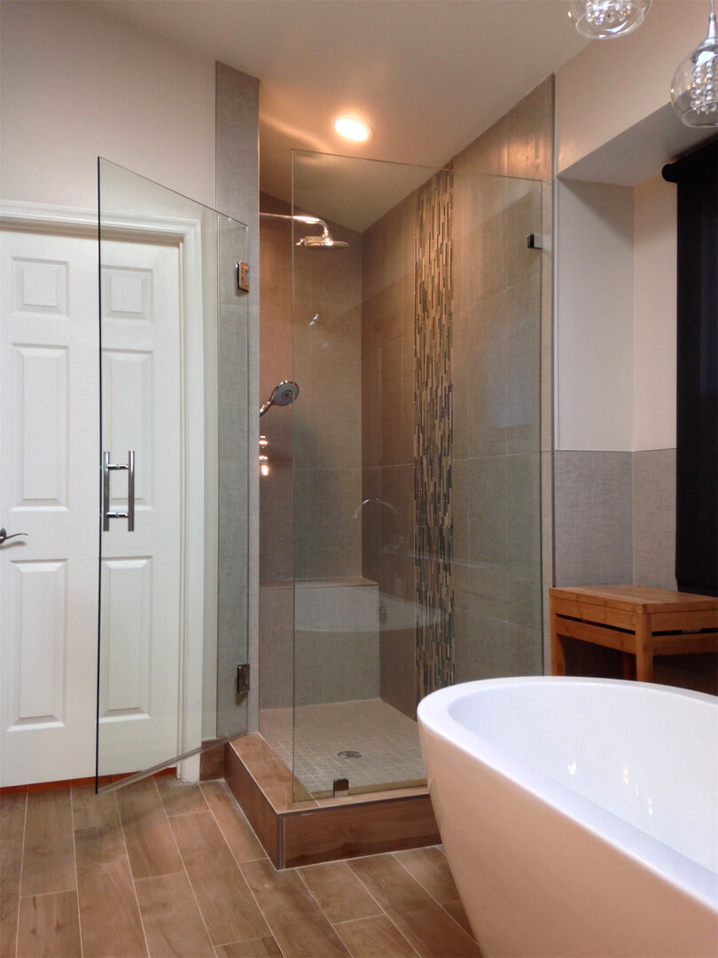 Frameless Corner Shower Enclosures