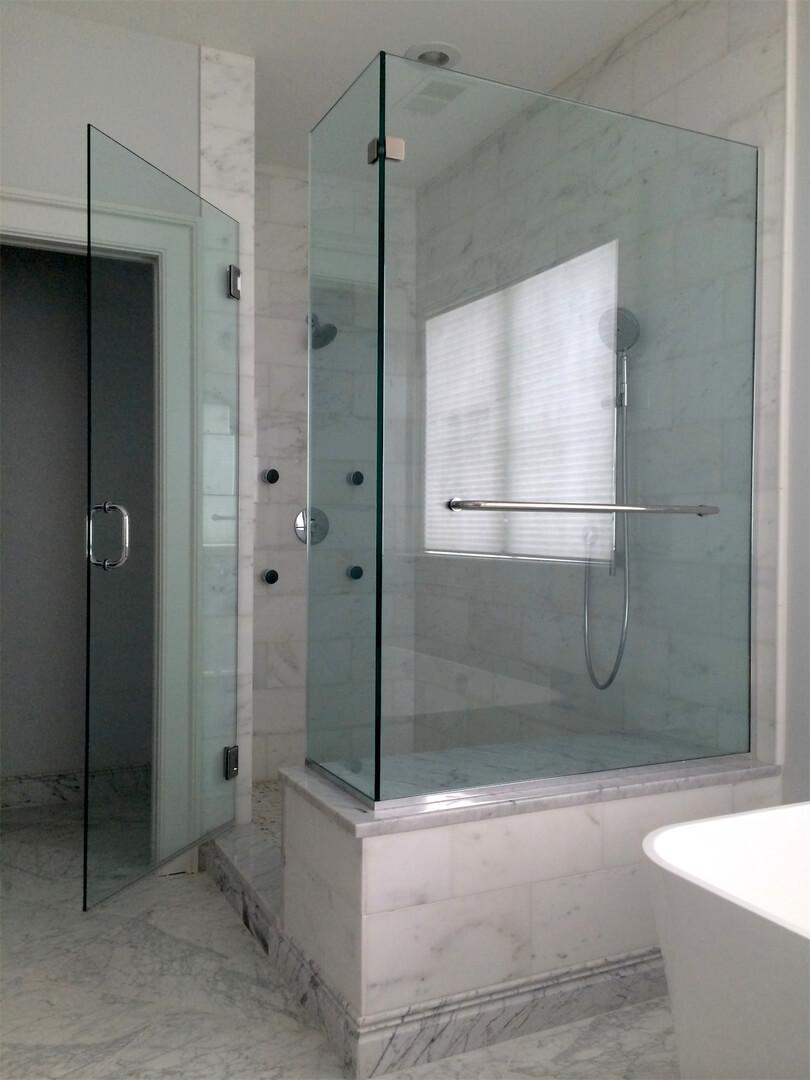 frameless corner shower enclosures or lshape enclosures
