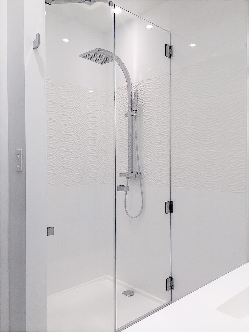 unit mn shower glass enclosures doors frameless seamless sliding door corner