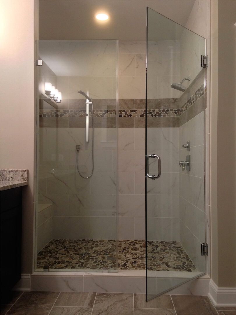 Frameless Inline Shower Enclosures