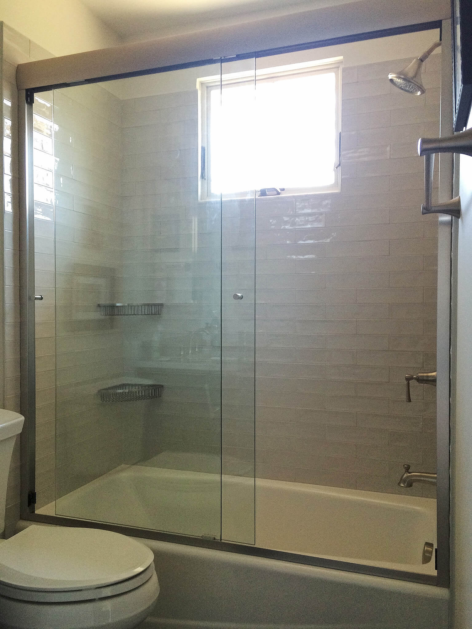 ... semi-frameless shower glass door enclosure ... & Frameless Sliding Shower Doors and Enclosures