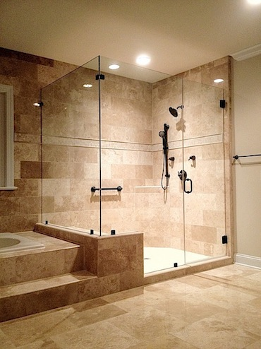 Custom Euro Glass Frameless Shower, Pictures Of Shower Stalls With Glass Doors